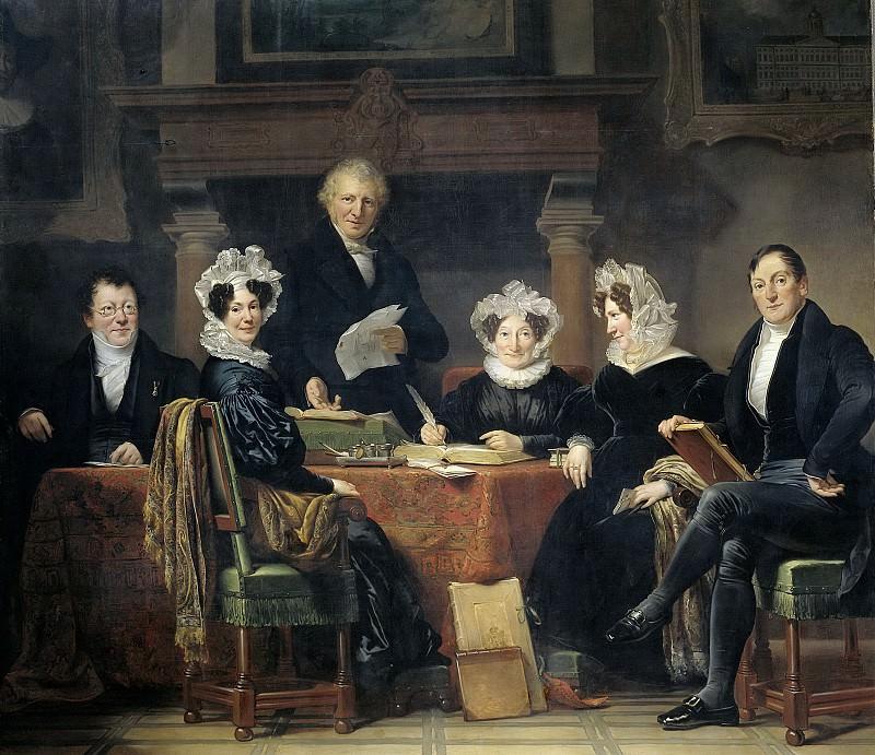 Kruseman, Jan Adam -- Regenten en regentessen van het leprozenhuis te Amsterdam, 1834-35, 1834-1835. Rijksmuseum: part 4