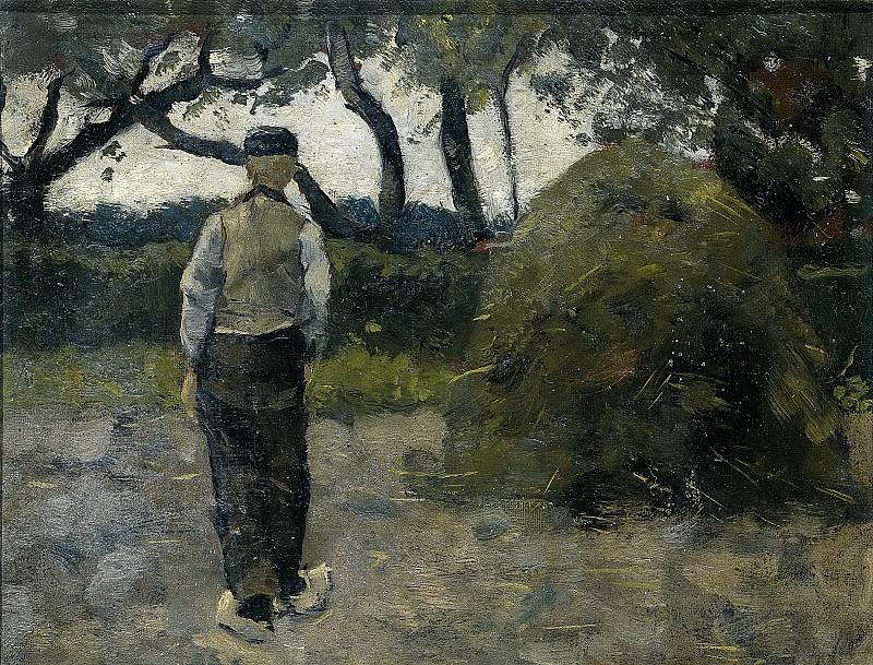 Roland Holst, Richard -- Boer bij een hooischelf (1889), 1889. Rijksmuseum: part 4