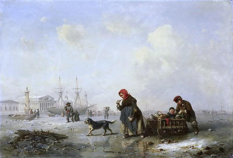 Hildebrandt, Theodor -- De Newa bij Sint Petersburg (Leningrad) in de winter, 1844. Rijksmuseum: part 4