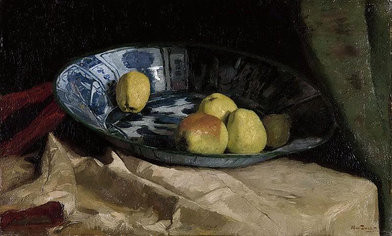 Zwart, Willem de -- Stilleven met appels op een Delfts blauwe schaal, 1880-1890. Rijksmuseum: part 4