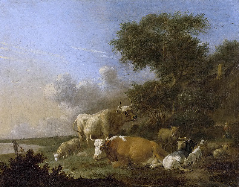 384... Klomp, Albert Jansz. -- Landschap met vee, 1640-1688. Rijksmuseum: part 4