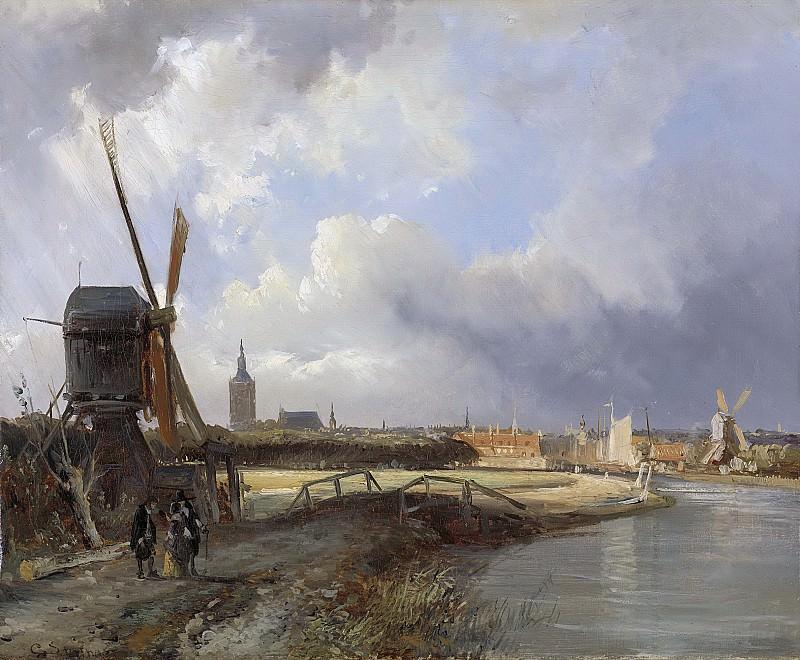 Springer, Cornelis -- Gezicht op Den Haag, 1850-1852. Rijksmuseum: part 4
