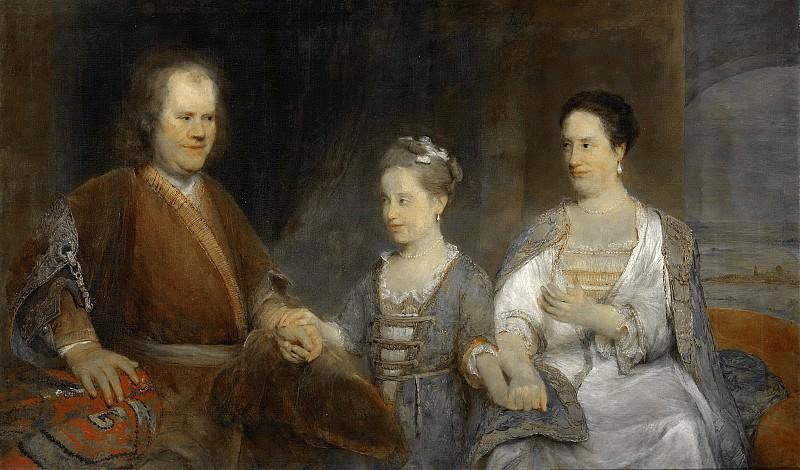 Gelder, Aert de -- Hermanus Boerhaave (1668-1738). Hoogleraar in de geneeskunde te Leiden met zijn vrouw Maria Drolenvaux (1686-1746) en dochtertje Johanna Maria (1712-1791), 1720-1725. Rijksmuseum: part 4