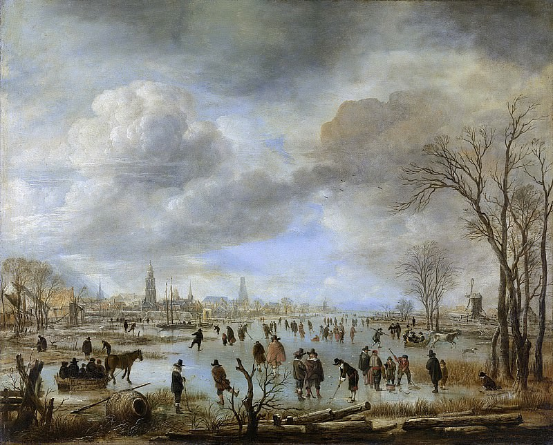 Neer, Aert van der -- Riviergezicht bij winter, 1655-1660. Rijksmuseum: part 4