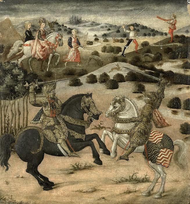 Unknown artist -- Tafereel uit een ridderlegende, 1450-1474. Rijksmuseum: part 4