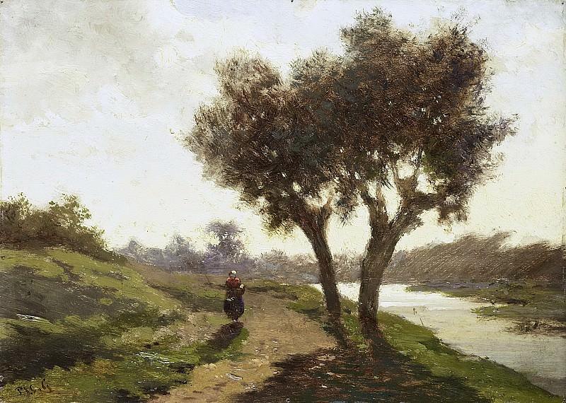 Gabriël, Paul Joseph Constantin -- Landschap met twee bomen, 1860-1867. Rijksmuseum: part 4