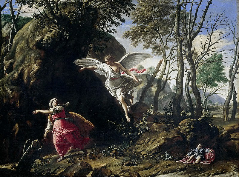 Cozza, Francesco -- Hagar en Ismaël in de woestijn, 1665. Rijksmuseum: part 4