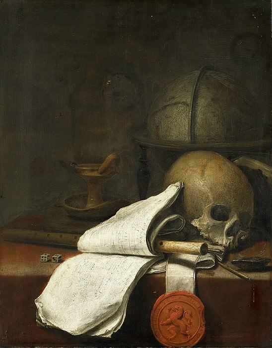 Potter, Pieter Symonsz. -- Vanitas stilleven, 1646. Rijksmuseum: part 4