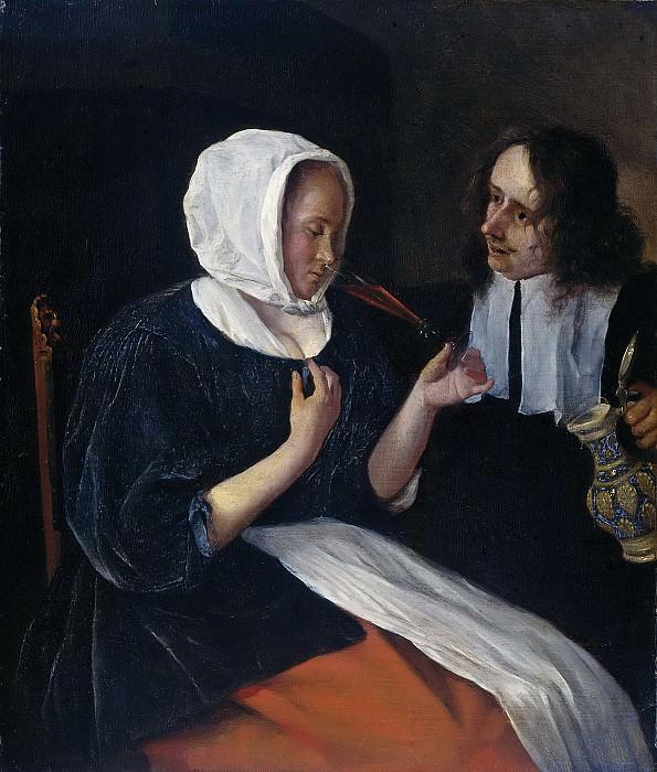 Steen, Jan Havicksz. -- Een drinkend paar, 1660-1679. Rijksmuseum: part 4