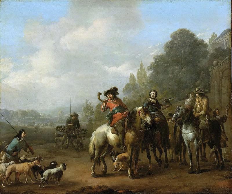 Lingelbach, Johannes -- De terugkomst van de jacht, 1650-1674. Rijksmuseum: part 4