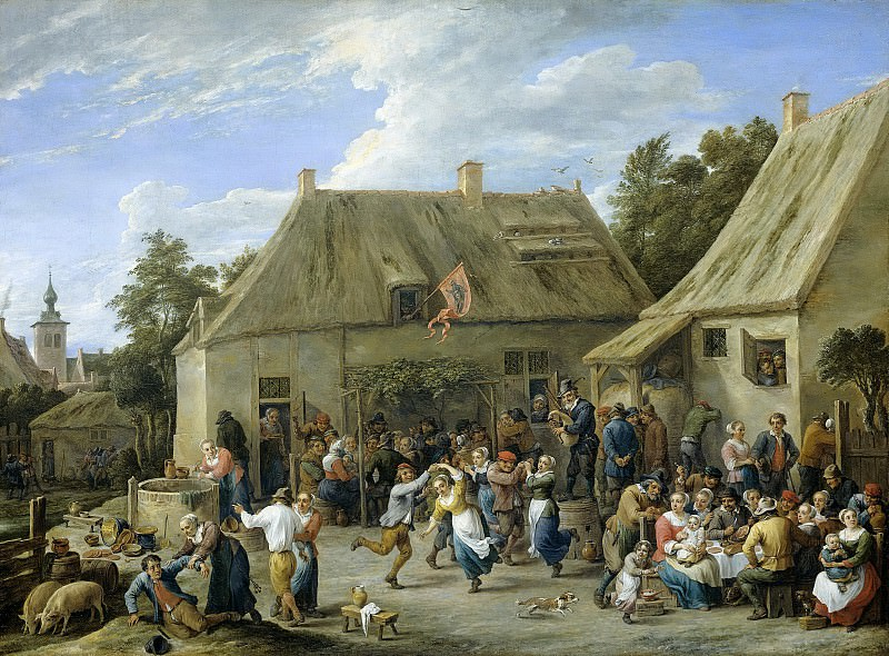 Teniers, David (II) -- Boerenkermis, 1665. Rijksmuseum: part 4