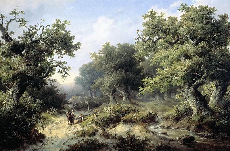 Cremer, Jacob -- Boslandschap met reizigers, 1849. Rijksmuseum: part 4