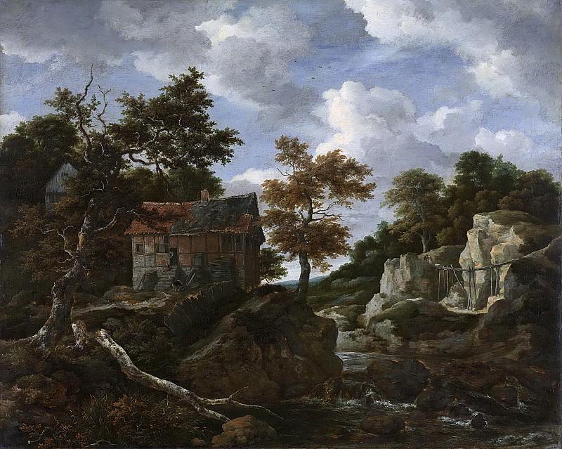 Ruisdael, Jacob Isaacksz. van -- Rotsachtig landschap, 1650-1682. Rijksmuseum: part 4