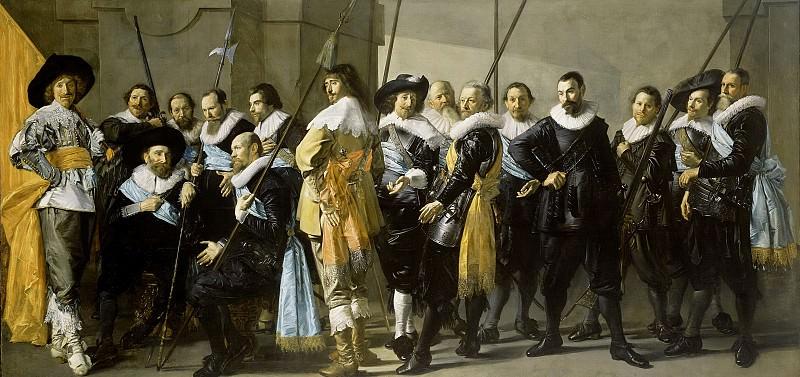 Hals, Frans -- Officieren en andere schutters van wijk XI in Amsterdam onder leiding van kapitein Reijnier Reael en luitenant Cornelis Michielsz Blaeuw, 1637. Rijksmuseum: part 4
