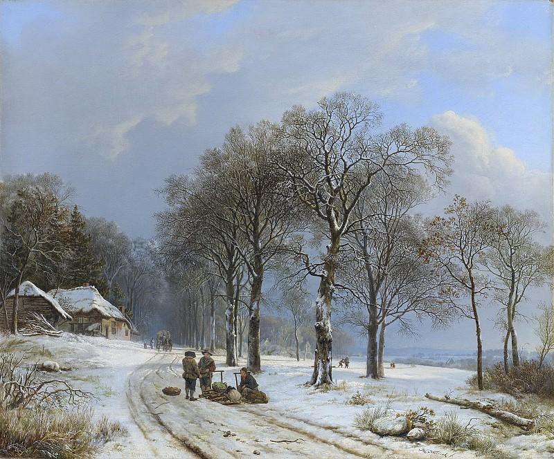 Koekkoek, Barend Cornelis -- Winterlandschap, 1835-1838. Rijksmuseum: part 4