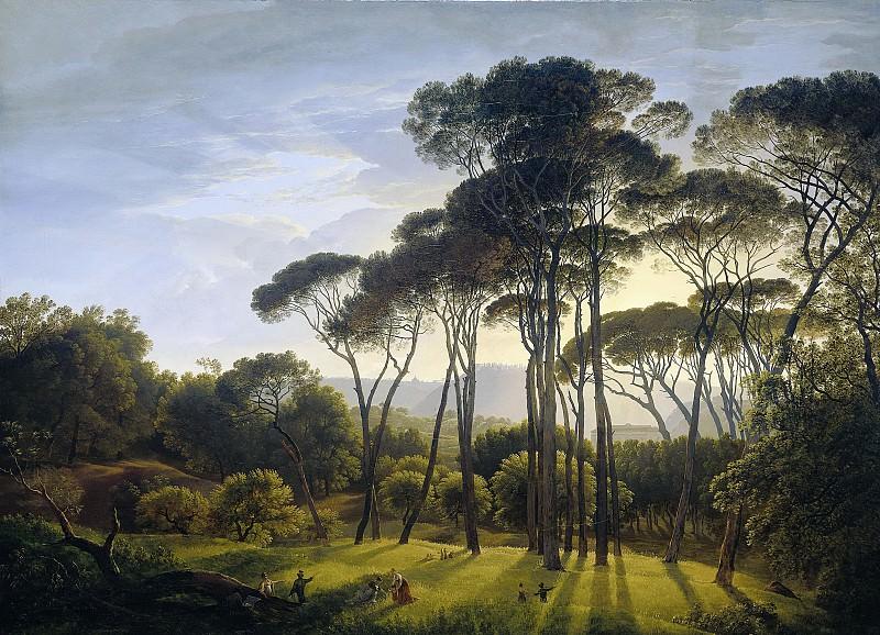 Voogd, Hendrik -- Italiaans landschap met parasoldennen, 1807. Rijksmuseum: part 4
