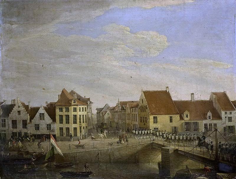 Groenia, Petrus -- Hollandse troepen trekken door de vestingstad Dendermonde, 1820. Rijksmuseum: part 4