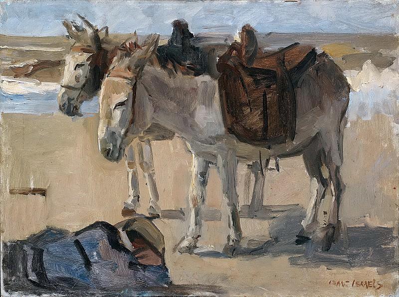Исаак Исраэлс -- Два ослика, 1897-1901. Рейксмузеум: часть 4
