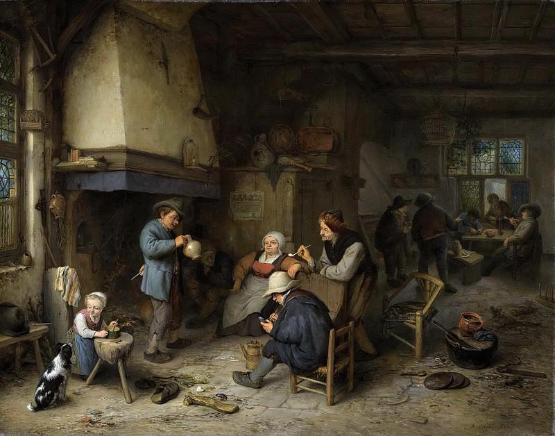 Адриан ван Остаде -- Группа крестьян в помещении, 1661. Рейксмузеум: часть 4