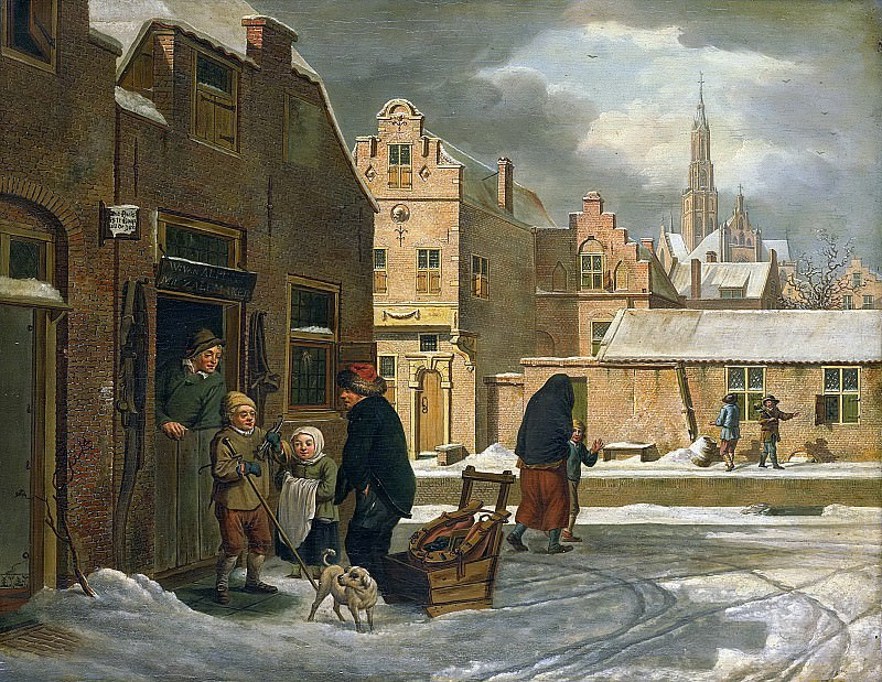 Laan, Dirk Jan van der -- Stadsgezicht in de winter, 1790-1813. Rijksmuseum: part 4