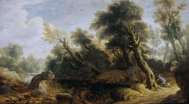 Монограммист IVS -- Пейзаж и охотник на его фоне, 1646. Рейксмузеум: часть 4