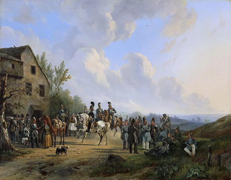 Verschuur, Wouter (1812-1874) -- Tafereel uit de Tiendaagse Veldtocht tegen de in opstand gekomen Belgen, augustus 1831, 1831-1835. Rijksmuseum: part 4
