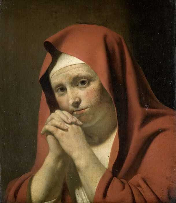 Everdingen, Caesar Boëtius van -- Biddende vrouw, 1640-1671. Rijksmuseum: part 4
