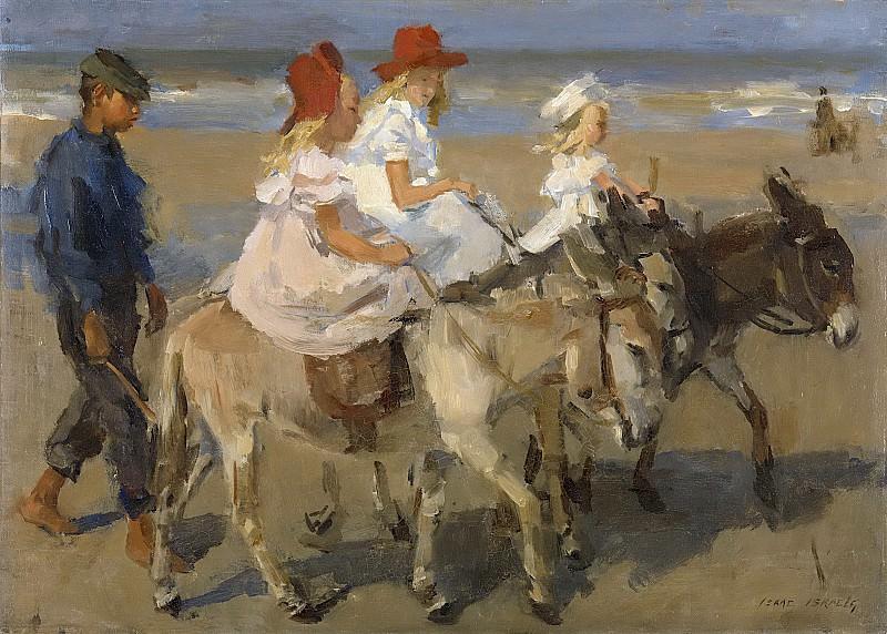 Israels, Isaac -- Ezeltje rijden langs het strand, 1890-1901. Rijksmuseum: part 4