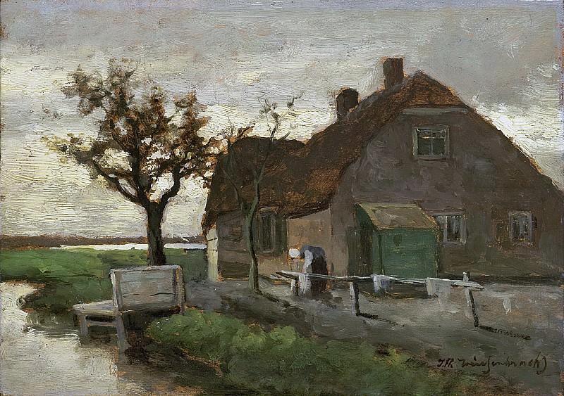Weissenbruch, Johan Hendrik -- Boerenhuis aan een vaart, 1870-1903. Rijksmuseum: part 4