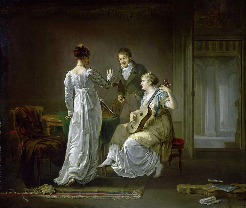 Луис Мориц -- Урок музыки, 1808. Рейксмузеум: часть 4