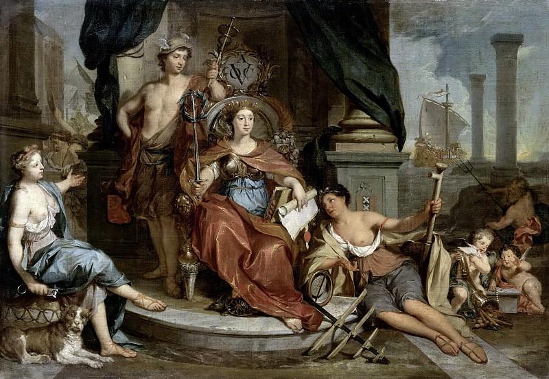 Николас Верколье -- Аллегорическое представление Амстердамской палаты Объединённой Ост-Индской компании, 1702-1746. Рейксмузеум: часть 4