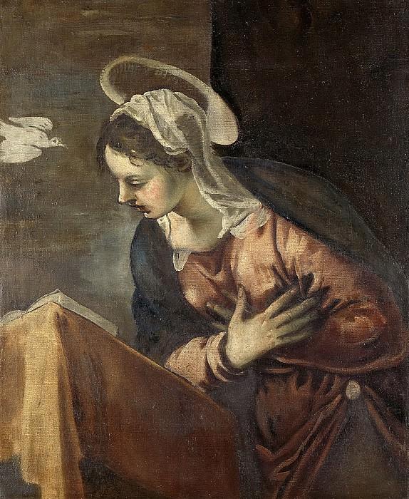 Tintoretto, Jacopo -- De verkondiging aan Maria; Maria, 1560-1585. Rijksmuseum: part 4