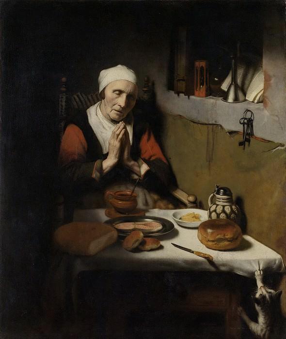 Maes, Nicolaes -- Oude vrouw in gebed, bekend als 'Het gebed zonder end, 1656. Rijksmuseum: part 4