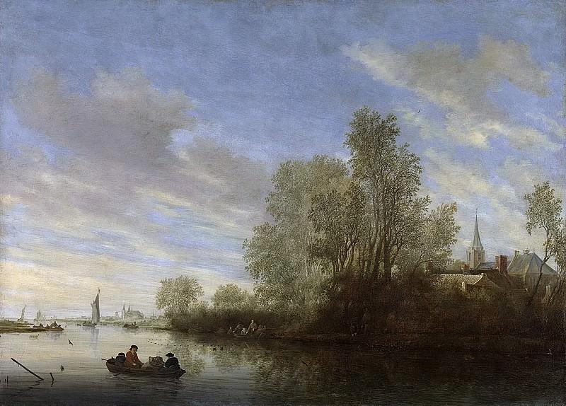 Ruysdael, Salomon van -- Riviergezicht bij Deventer, 1645. Rijksmuseum: part 4