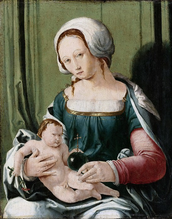 Leyden, Lucas van -- Maria met kind, 1530. Rijksmuseum: part 4