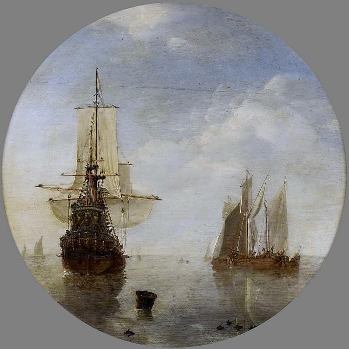 Velde, Willem van de (II) -- Schepen voor anker, 1650-1707. Rijksmuseum: part 4