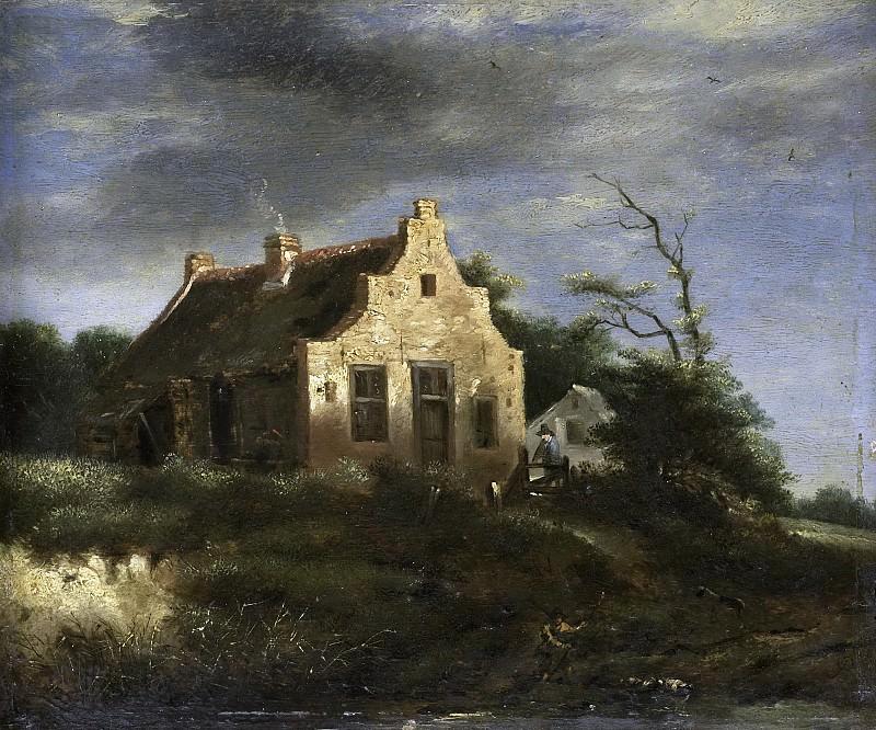 Ruisdael, Jacob Isaacksz. van -- Boerenhuis in bosachtig duinlandschap, 1650-1750. Rijksmuseum: part 4