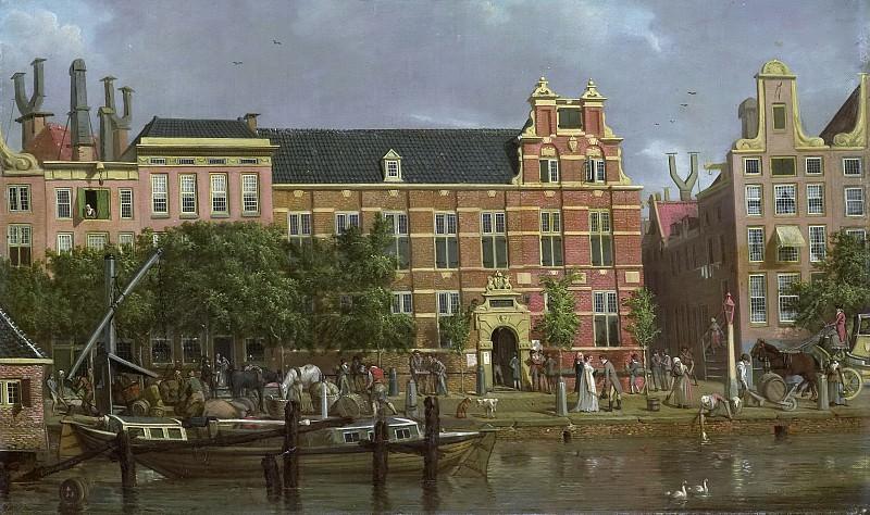 Smies, Jacob -- De Latijnse school op het Singel te Amsterdam, 1802. Rijksmuseum: part 4