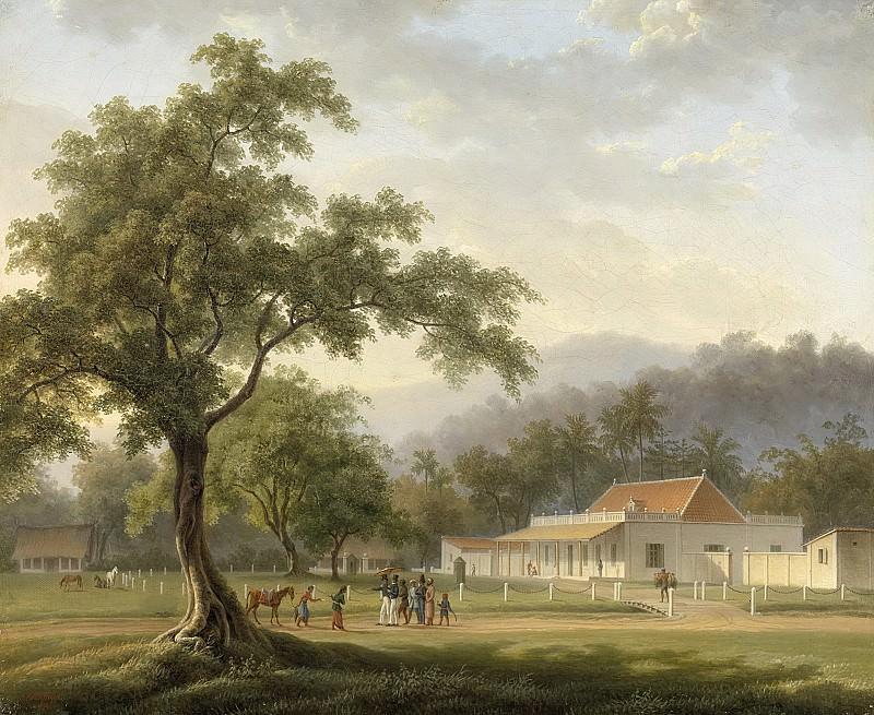 Payen, Auguste Antoine Joseph -- Gezicht op het huis van de assistent-resident te Banjoewangi (Oost-Java), 1828. Rijksmuseum: part 4