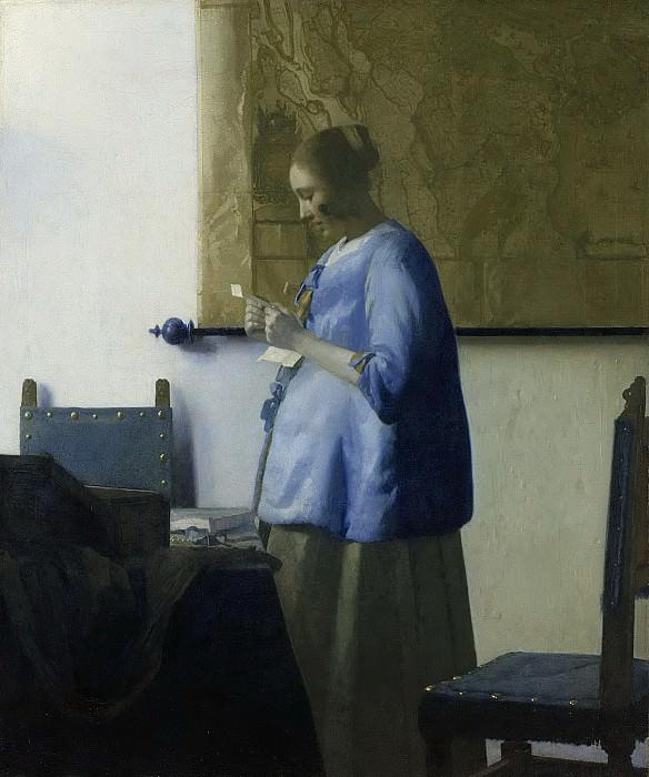 Vermeer, Johannes -- Brieflezende vrouw, 1662-1663. Rijksmuseum: part 4