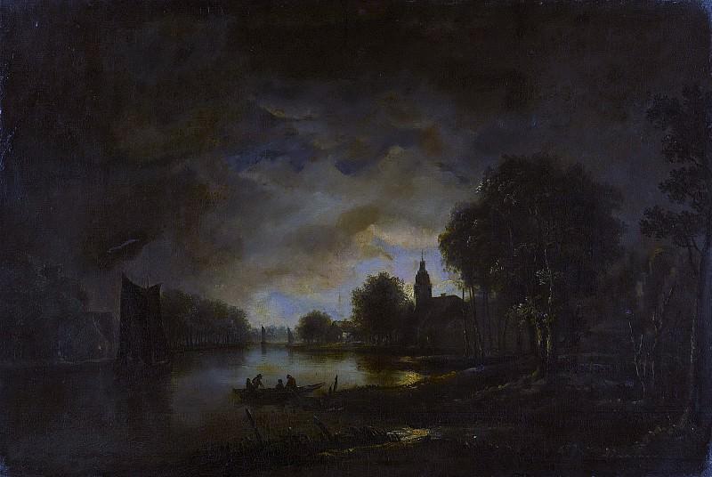 Neer, Aert van der -- Riviergezicht bij maanlicht, 1630-1750. Rijksmuseum: part 4