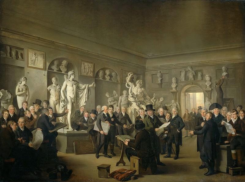 Lelie, Adriaan de -- De beeldenzaal van de Maatschappij Felix Meritis te Amsterdam, 1806-1809. Rijksmuseum: part 4