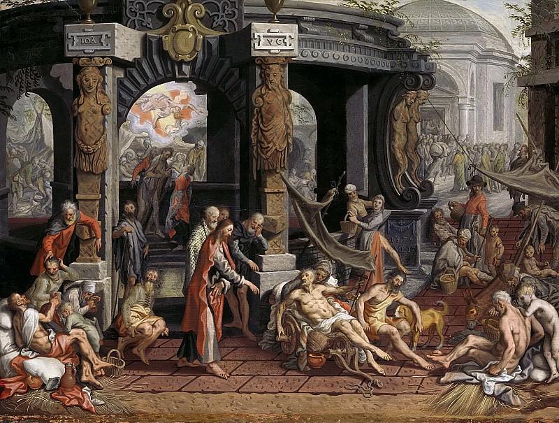 Aertsen, Pieter -- De genezing van de lamme van Bethesda., 1575-01-01-1575-05-17. Rijksmuseum: part 4