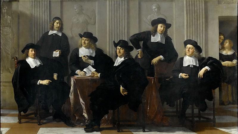 Dujardin, Karel -- De regenten van het Spinhuis en Nieuwe Werkhuis te Amsterdam, 1669, 1669. Rijksmuseum: part 4