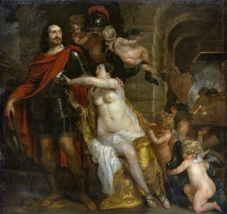 Willeboirts Bosschaert, Thomas -- Mars ontvangt de wapens van Venus en Vulcanus, allegorie, 1624-1654. Rijksmuseum: part 4
