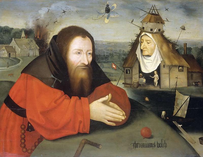 Иероним Босх -- Искушение Святого Антония-Отшельника, 1550-1600. Рейксмузеум: часть 4