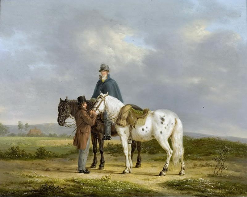 Oberman, Anthony -- Twee ruiters in een landschap, 1817. Rijksmuseum: part 4