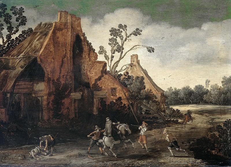 Эсайас ван де Вельде -- Нападение, 1616. Рейксмузеум: часть 4