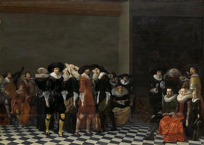 Duyster, Willem Cornelisz. -- Bruiloftsfeest, vanouds bekend als 'de bruiloft van Adriaen Ploos van Amstel en Agnes van Bijler', 1616, 1625. Rijksmuseum: part 4