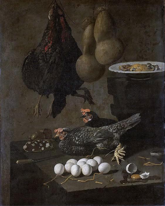 Джованни Баттиста Рекко -- Натюрморт с курами и яйцами, 1640-60. Рейксмузеум: часть 4